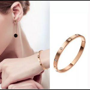 Jewelry - Rose Gold & Diamond Bangle Bracelet